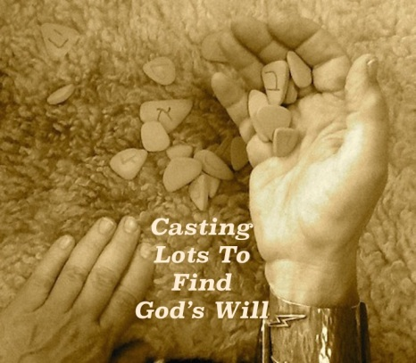 Bilderesultat for casting lots bible meaning